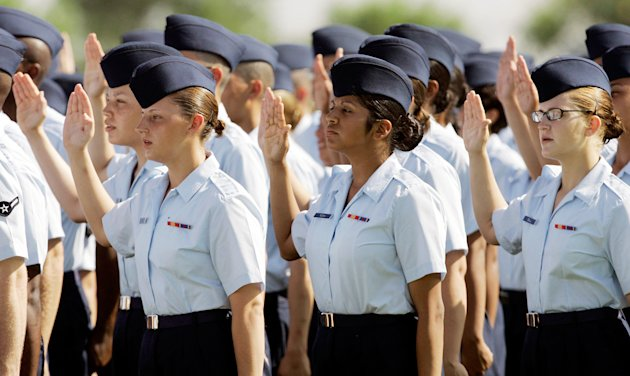 Charges of sexual assault against female recruits at Lackland Air Force Base in Texas unearthed the Air Force sex scandal. Investigations found endemic abuse at the Air Force&#39;s primary training facility. (Eric Gay/AP Photo)