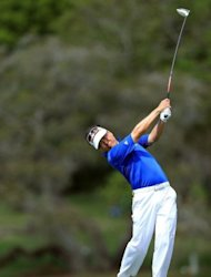 Charlie Wi of the USA plays his tee shot at the par 5, 16th hole during the second round of the 2012 Arnold Palmer Invitationa in Orlando, Florida