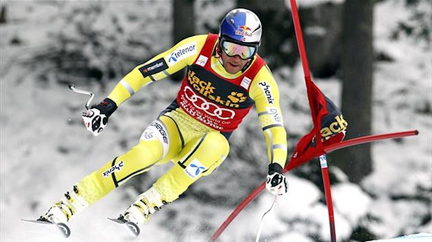 World Cup overall points leader Aksel Lund Svindal of Norway skis past a gate during the men's World Cup downhill ski practices in Val Gardena, northern Italy (Reuters)