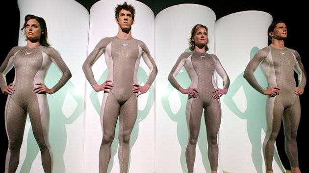 The original 'Fastskin' suits, which have now been superseded