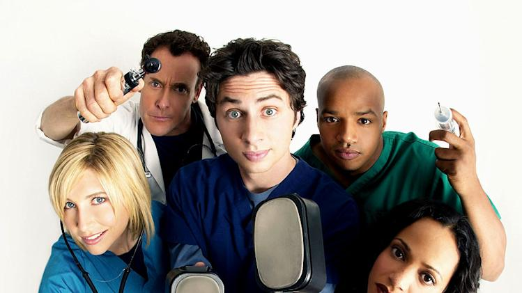 The cast of Scrubs on NBC.