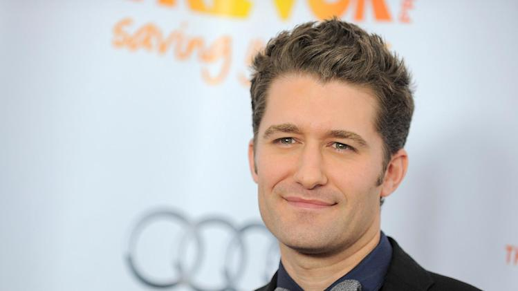 "FILE - This Dec. 2, 2012 file photo shows actor-singer Matthew Morrison at Trevor Live at the Hollywood Palladium in Los Angeles. Morrison's sophomore album, ""Where It All Began,"" due out on June 4 on Adam Levine's label, 222 Records. (Photo by Jordan Strauss/Invision/AP, file)"