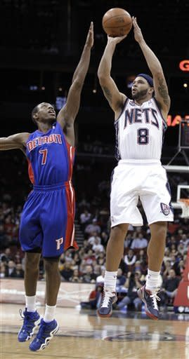 Williams scores 26 as Nets top Pistons 99-96