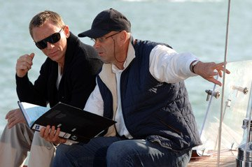 Daniel Craig and director Martin Campbell on the set of MGM/Columbia Pictures' Casino Royale