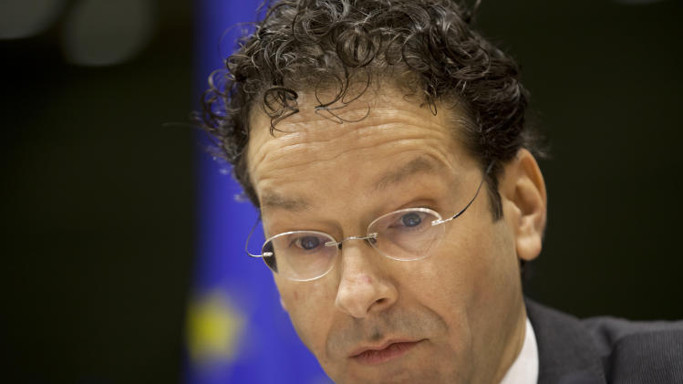 Dutch Finance Minister and leader of the eurogroup Jeroen Dijsselbloem answers questions during a sitting of European Parliament in Brussels on Thursday, March 21, 2013. Cypriot officials are trying to find new ways to stave off financial ruin, including asking Russia for help, after its Parliament rejected a plan to contribute to the nation's bailout package by seizing depositors bank savings. (AP Photo/Virginia Mayo)