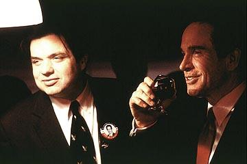 Oliver Platt and Warren Beatty in 20th Century Fox's Bulworth