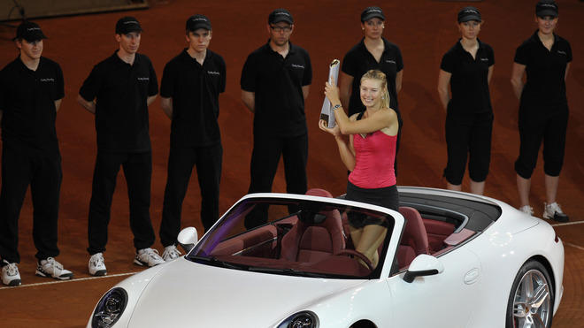 Russia's Maria Sharapova Poses AFP/Getty Images
