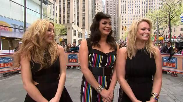 Pistol Annies -- Miranda Lambert, Angaleena Presley and Ashley Monroe -- stop by Access Hollywood Live on May 7, 2013 -- Access Hollywood