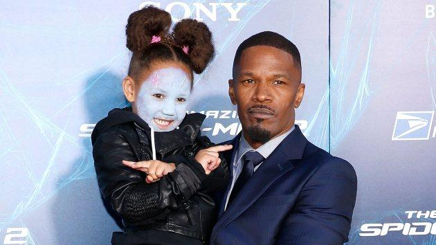 Jamie Foxx and daughter Annalise at 'The Amazing Spider-Man 2' premiere on April 24, 2014 in NYC -- Getty Images