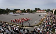 This file illustration photo shows a parade rehearsal at the Royal Military College at Duntroon in Canberra, in 2011. A 23-year-old army cadet has been charged over an alleged 'rape incident' in the grounds of the college