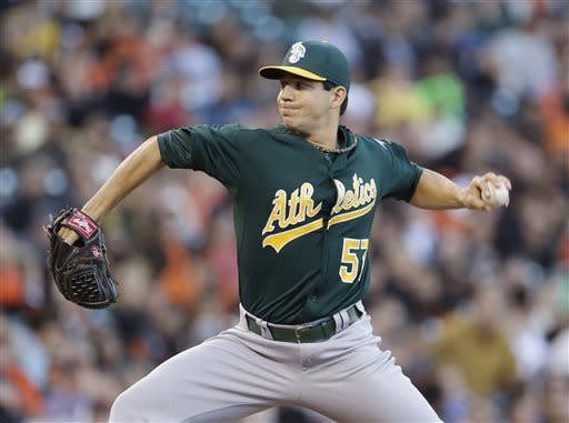 Tommy Milone pitches A's to sixth straight win