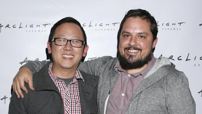 "Patrick Shen and Brandon Vedder from film ""La Source"" attend Arclight Cinemas' 2nd Annual Documentary Film Festival Awards at the Arclight Hollywood on Saturday Nov. 10, 2012 in Hollywood, Calif. (Photo by Todd Williamson/Invision for Arclight Cinemas/AP Images)"