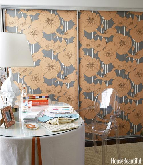 Wallpaper Your Closet Doors