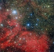 Handout photo from the European Southern Observatory shows the star cluster NGC 6604. US scientists have for the first time found proof that planets can form and survive around sun-like stars within dense star clusters, NASA said
