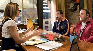 Jessica Biel , Adam Sandler and Kevin James in Universal Pictures' I Now Pronounce You Chuck & Larry