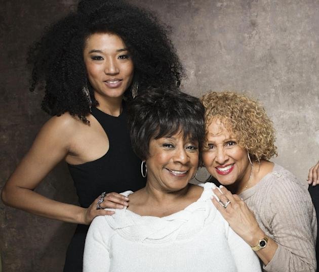 "FILE - This Jan. 21, 2013 file photo shows singers, from left, Judith Hill, Merry Clayton and Darlene Love from the film ""20 Feet from Stardom"" at the 2013 Sundance Film Festival at the Fend"