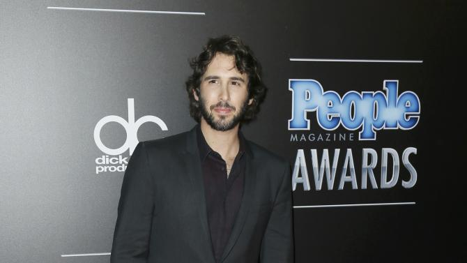 Musician Josh Groban arrives at the People Magazine Awards in Beverly Hills