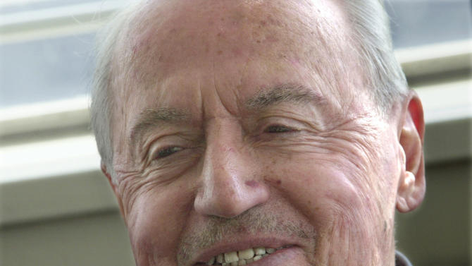 FILE - This Feb. 25, 2003, file photo shows Marvin Miller at his apartment in New York. Miller, the union leader who created free agency for baseball players and revolutionized professional sports with multimillion dollar contracts, died Tuesday, Nov. 27, 2012 in New York. He was 95.  (AP Photo/Bebeto Matthews, File)