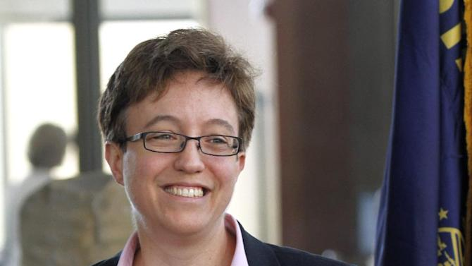 Rep. Tina Kotek, D-Portland, is shown at the signing of Oregon health care bills, House Bill 3650 and Senate Bill 99, in Portland, Ore., July 1, 2011.  Oregon House Democrats are expected to select  Kotek as the nation's first openly lesbian speaker today, another milestone following an election that brought a series of victories to the gay community.(AP Photo/Don Ryan)