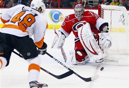 Couturier lifts Flyers over Hurricanes 2-1