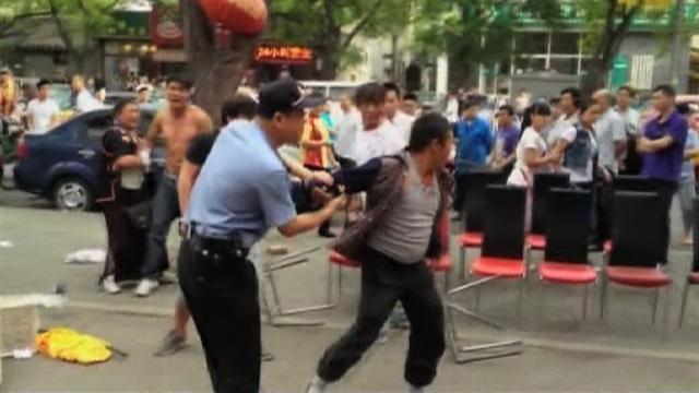 Video: Violent brawl breaks out in Beijing