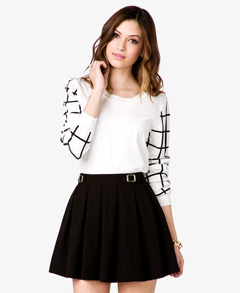 Grid sleeve sweater, $19.80 at forever21.com
