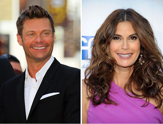 Ryan Seacrest and Teri Hatcher