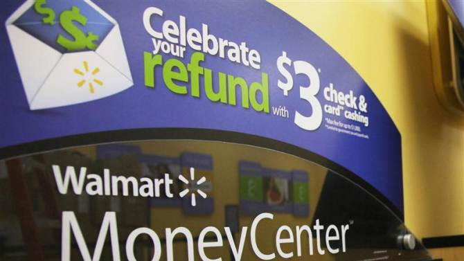The Money Center is pictured at a new Wal-Mart store in Chicago