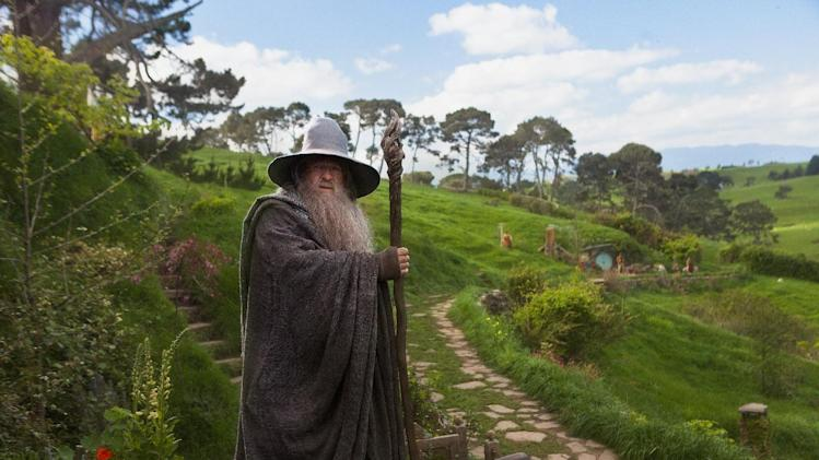 "This film image released by Warner Bros., shows Ian McKellen as Gandalf in a scene from the fantasy adventure ""The Hobbit: An Unexpected Journey."" (AP Photo/Warner Bros., James Fisher)"