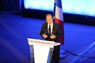 Socialist Party (PS) newly elected president Francois Hollande gives a speech after winning the second round of the presidential election in Tulle, southwestern France. France's president-elect Francois Hollande warned fellow European leaders on Sunday that he would push ahead with his vow to refocus EU fiscal efforts from austerity to growth