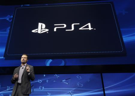 Andrew House speaks during the unveiling of the PlayStation 4 launch event in New York