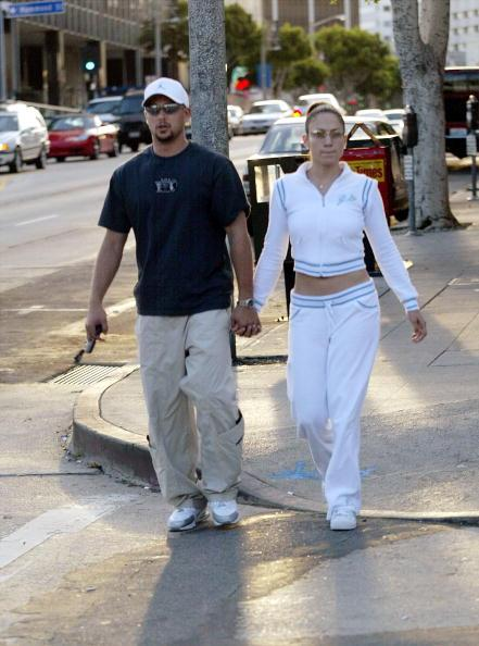 Jennifer and Cris Judd go out for pizza in 2001