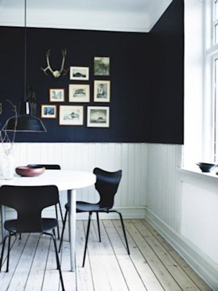 Black and White Breakfast Nook