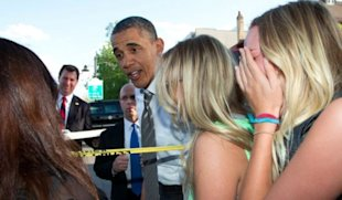 Obama Fan Sinks Her Big Moment by Spilling Yogurt on President