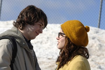 Michael Angarano and Olivia Thirlby in Warner Independent's Snow Angels