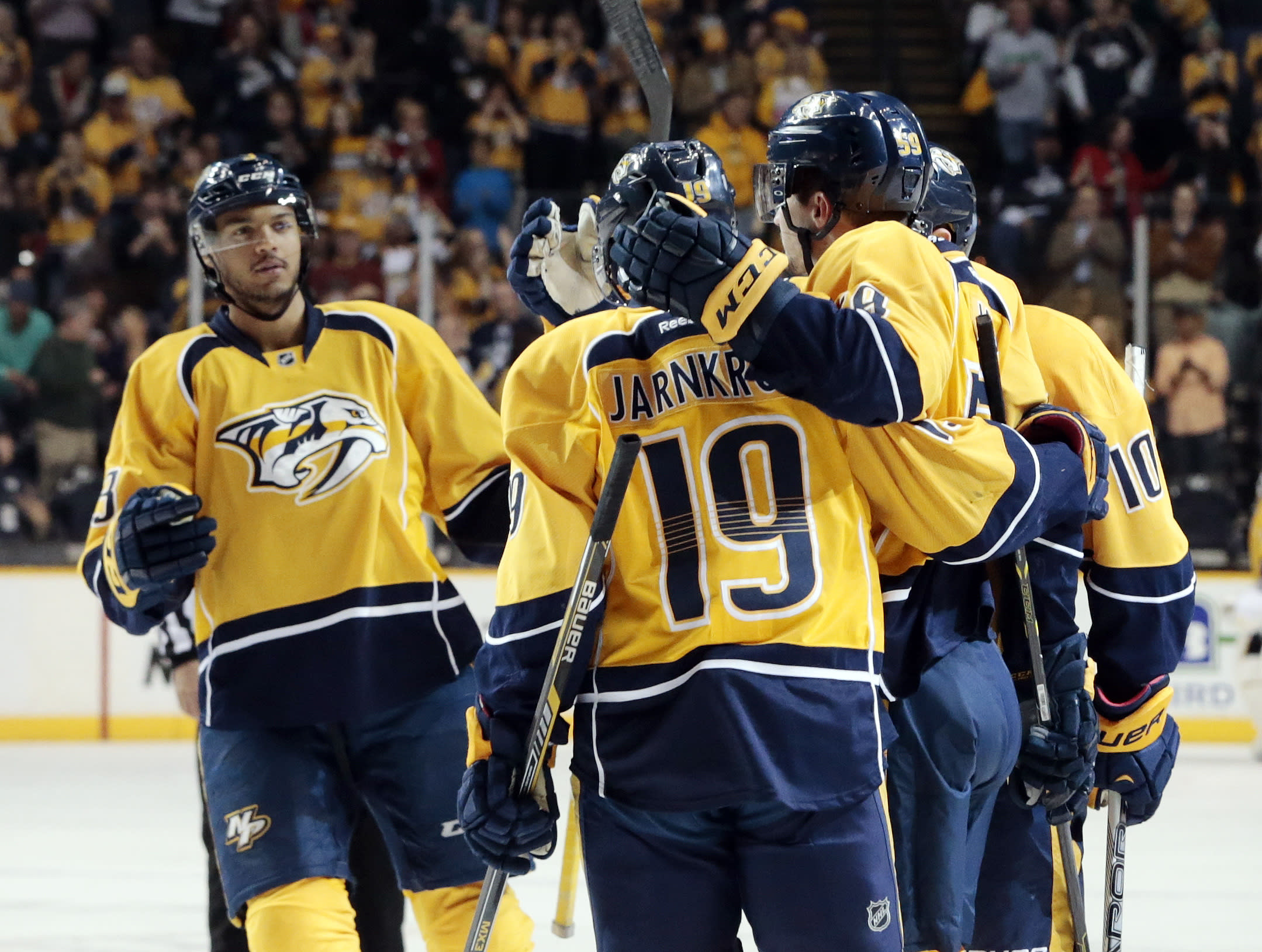Playoffs clinched, Predators target more with 5 games left