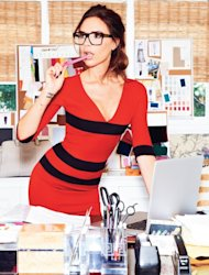 Victoria Beckham poses for Glamour Magazine's September 2012 -- Glamour