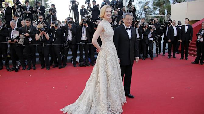 Jury members actress Nicole Kidman, left, and director Ang Lee arrive for the screening of Nebraska at the 66th international film festival, in Cannes, southern France, Thursday, May 23, 2013. (AP Photo/Francois Mori)