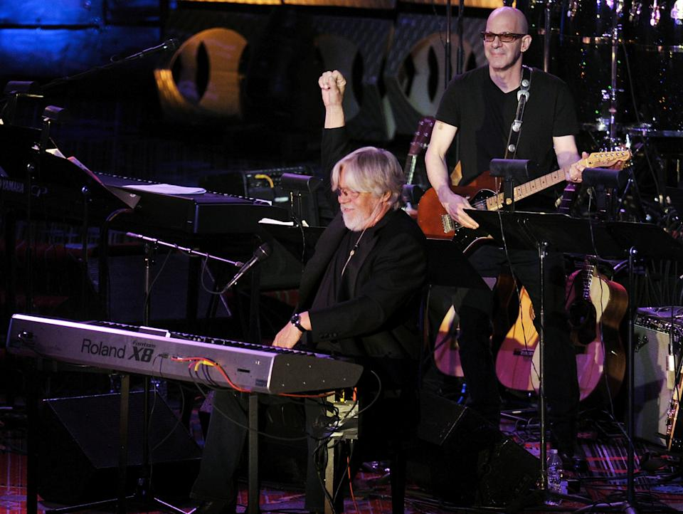Inductee Bob Seger performs at the 2012 Songwriters Hall of Fame induction and awards gala at the Marriott Marquis Hotel, Thursday June 14, 2012 in New York. (Photo by Evan Agostini/Invision)