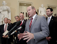 Rep. Reid Ribble, R-Wis., and other House Republicans speak about passage of the conservative deficit reduction plan known as