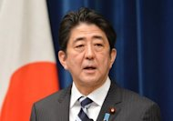 Japanese Prime Minister Shinzo Abe answers questions during a press conference in Tokyo on January 11, 2013. US and Japanese fighter jets have carried out joint air exercises, an official said, days after Chinese and Japanese military planes shadowed each other near disputed islands in the East China Sea.