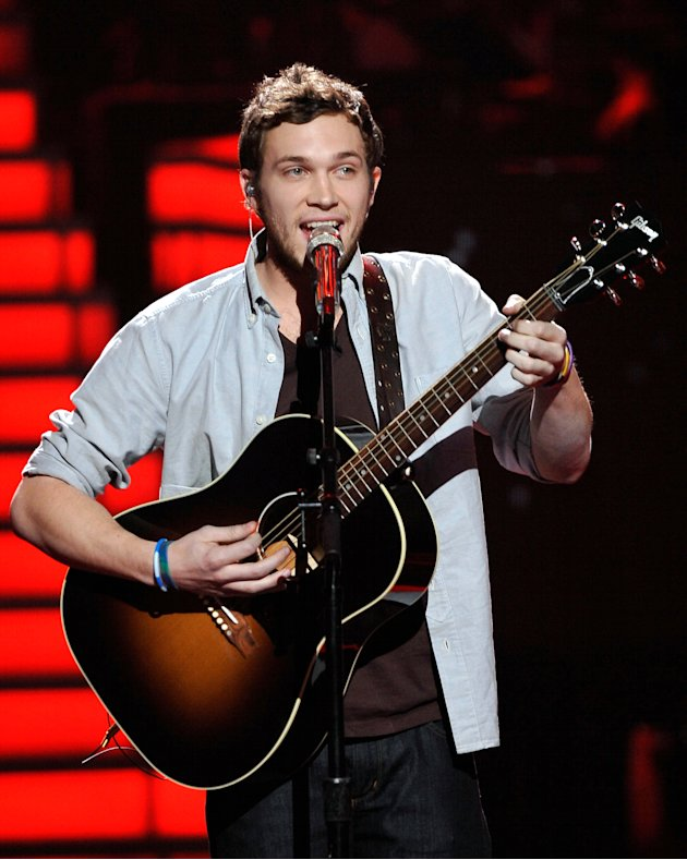 If Phillip wins the talent search, he'll continue the streak of the 4 guitar-playing male winners namely David Cook, Kris Allen, Lee DeWyze and Scotty McCreery.  (Photo by FOX via Getty Images)