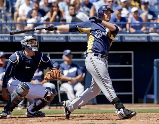Gamel hits grand slam and solo HR, Brewers beat SD