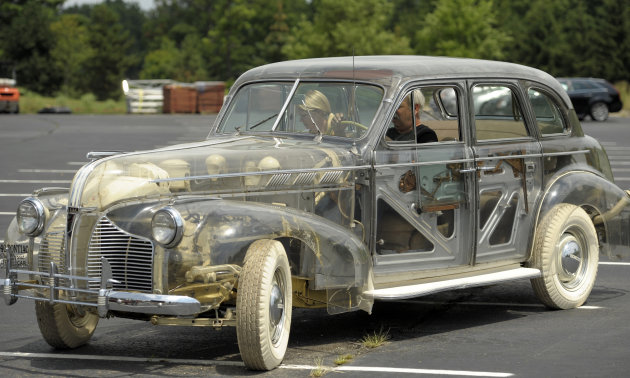 "The 1939 Plymouth Deluxe 6, also referred to as the ""Ghost Car"" because"