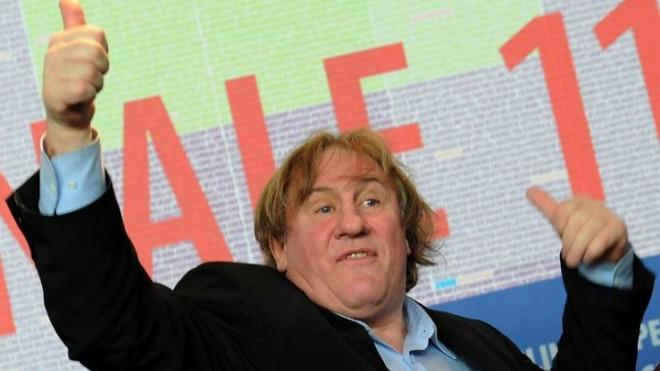 No, Gerard Depardieu, it is not cool to use the aisle as your toilet.