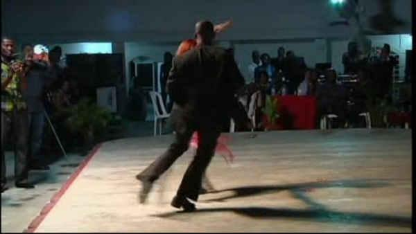 Man from Haiti dances with prosthetic leg