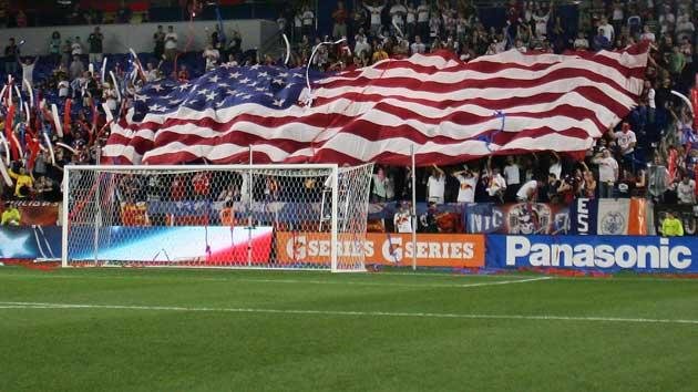 U.S. flag at MLS game