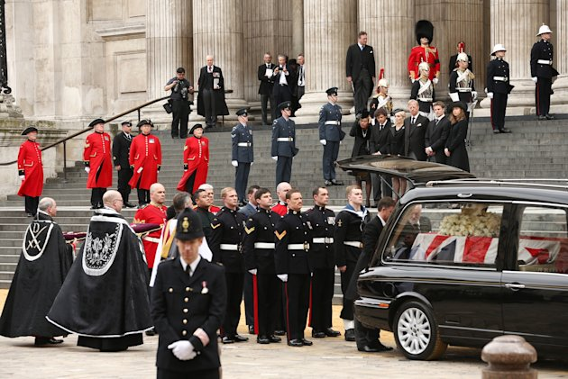 The Ceremonial Funeral Of Former British Prime Minister Baroness Thatcher