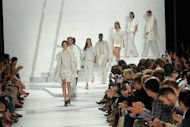Models walk the runway at the Lacoste Spring 2013 fashion show during NY Fashion Week on September 8. Felipe Oliveira Baptista revisited the heyday of the brand with collection that mixed sporty lines with a sense of fun