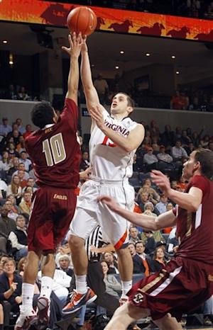 No. 19 Virginia beats Boston College 66-49